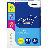 Color Copy A4 Premium Super Smooth Copier Paper, White, 100gsm, Ream (500 Sheets)