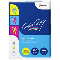 Color Copy A4 Paper, White, 120gsm, Ream (250 Sheets)
