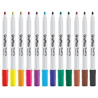 Graffico Funliner Colouring Pen Assorted (Pack of 12) 6107/12