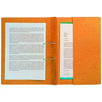 Pocket Spiral Files 285gsm Foolscap Orange (Pack of 25) TPFM-ORGZ