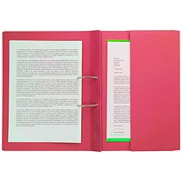 Pocket Spiral Files 285gsm Foolscap Red (Pack of 25) TPFM-REDZ