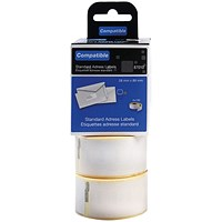 Compatible DYMO Standard Address Label 28 x 89mm (Pack of 260) LL87010