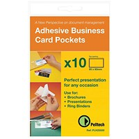 Pelltech Self-Adhesive Business Card Pocket, 60x95mm, Pack of 100