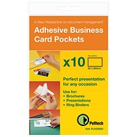 Pelltech Business Card Holder Side Opening 60x95mm (Pack of 10)