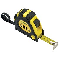 Linex Tape Measure 5m Black /Yellow EMT5001