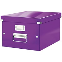 Leitz WOW Click and Store Box Medium Purple