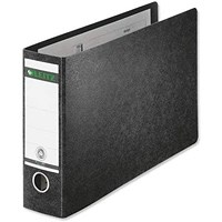 Leitz 180 Oblong Lever Arch File Board A5 Black (Pack of 5)
