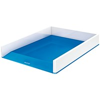 Leitz WOW Letter Tray Dual Colour White/Blue
