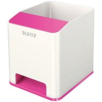 Leitz WOW Sound Booster Pen Holder White/Pink