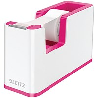Leitz WOW Tape Dispenser Dual Colour White/Pink