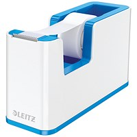Leitz WOW Tape Dispenser Dual Colour White/Blue