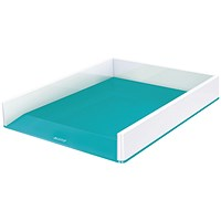 Leitz WOW Letter Tray Dual Colour White/Ice Blue