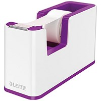Leitz WOW Tape Dispenser Dual Colour White/Purple