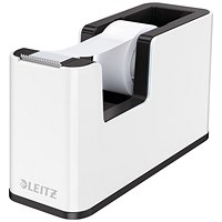 Leitz WOW Tape Dispenser Dual Colour White/Black