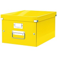 Leitz WOW Click and Store Box Medium Yellow