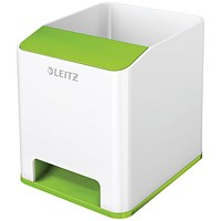 Leitz WOW Sound Pen Holder Dual Colour White/Green