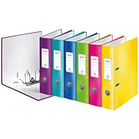 Leitz Wow 180 Lever Arch File 80mm A4 Assorted (Pack of 10)