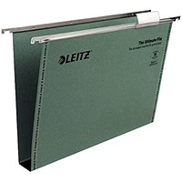 Leitz Ultimate Suspension File Foolscap Green (Pack of 50)