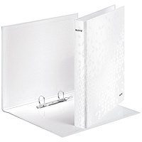 Leitz WOW Ring Binder A4 25mm White (Pack of 10)