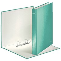 Leitz WOW 2 D-Ring Binder A4 Plus 25mm Ice Blue (Pack of 10)