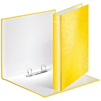 Leitz WOW Ring Binder Yellow A4 25mm (Pack of 10)