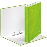 Leitz WOW Ring Binder A4 25mm Green (Pack of 10)