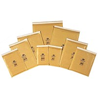 Jiffy AirKraft Bag Assorted Sizes Gold (Pack of 50) JL-SEL-A