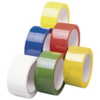 Polypropylene Tape 50mmx66m Yellow (Pack of 6)