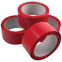 Polypropylene Tape 50mmx66m Red (Pack of 6)