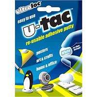 Ultraloc U-Tac Re-Usable Adhesive Putty White (Pack of 12)