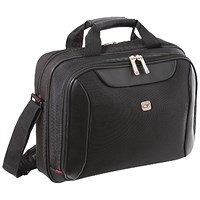 Gino Ferrari Helios Business Bag 16in Black (Features padded compartment for 16 inch laptops)