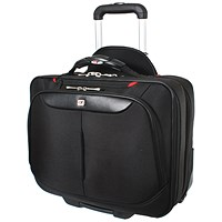 Gino Ferrari Brooklyn Wheeled Laptop Case Black