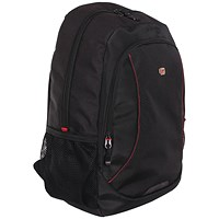 Gino Ferrari Eros 16 Inch Laptop Backpack Red Trim
