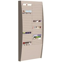 Fast Paper A4 Document Control Panel 50 Compartments Grey