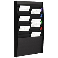 Fast Paper A4 Document Control Panel 20 Compartments Black