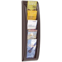 Fast Paper Quick Fit System Wall Display 5 x 1/3 A4 Black