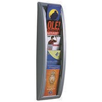 Fast Paper Quick Fit System Wall Display 5 x 1/3 A4 Silver