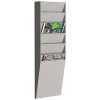 Fast Paper A4 Document Control Panel 6 Compartments Grey