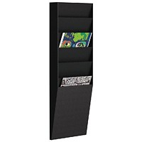 Fast Paper A4 Document Control Panel 6 Compartments Black