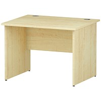 Impulse 1000mm Rectangular Desk, Panel Legs, Maple
