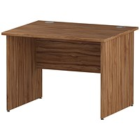 Impulse 1000mm Rectangular Desk, Panel Legs, Walnut