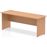 Impulse 1800mm Slim Rectangular Desk, Panel Legs, Oak