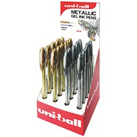 Uniball Gold/Silver Display UM-120NM (Pack of 24)