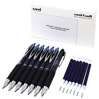Uni-Ball Signo UMN-207 7 Pen/7 Refill Pack Blue (Pack of 14)