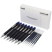 Uni-Ball Jetstream SXN-210 7 Pen/7 Refill Blue (Pack of 14)