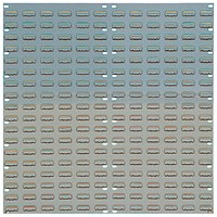 Barton Tp6 Wall Mountable Louvered Panel 36 inch Grey 010106