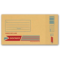 GoSecure Bubble Lined Envelope Size 1 110x215mm Gold (Pack of 100) ML10038