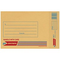 GoSecure Bubble Lined Envelope Size 3 140 x 195mm Gold (Pack of 100) ML10042