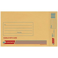 GoSecure Bubble Lined Envelope Size 4 180x260mm Gold (Pack of 100) ML10046