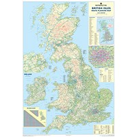 Map Marketing British Isles Motoring Map Unframed 12.5 Miles to 1 inch Scale W830xH1200mm